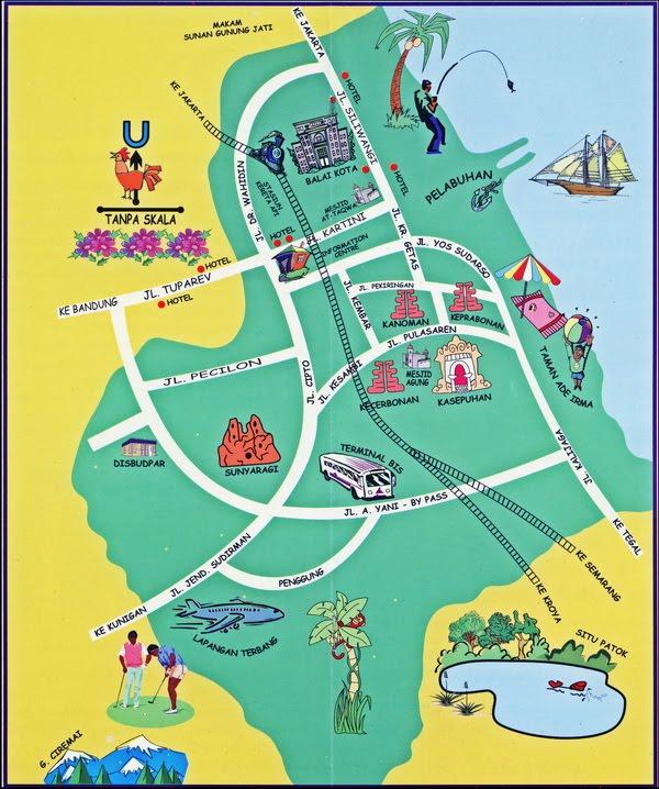 Peta Wisata Kota Cirebon Wisatacrb